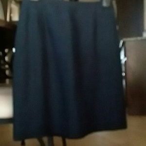 Casual Corner Skirts - Linen Rayon Navy Blue Career Skirt Size 2